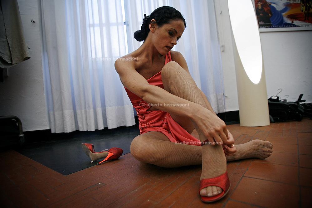 Italy, Genoa, Tango Festival:   the argentinian dancer Erica Boaglio