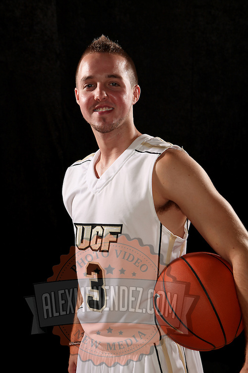 Guard A.J. Rompza of the University of Central Florida Knights mens basketball team poses on media day at the UCF Arena on October 14, 2010 in Orlando, Florida. (AP Photo/Alex Menendez)