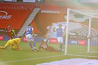Football - 2020 / 2021 Sky Bet Championship - AFC Bournemouth vs. Birmingham City - The Vitality Stadium<br /> <br /> Scott Hogan of Birmingham City pounces on the loose ball to fire Birmingham into the lead at the Vitality Stadium (Dean Court) Bournemouth <br /> <br /> COLORSPORT/SHAUN BOGGUST