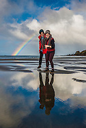 A wild rainy winters day at Te Arai Point beach.