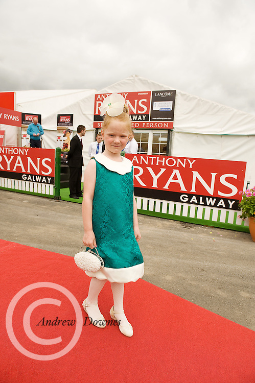 Holly Lynott  finalist in the Anthony Ryan Best Dressed Lady Competition at the Galway Races. Photo:Andrew Downes...