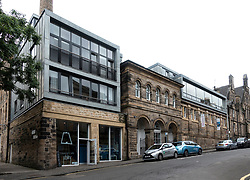 Exterior of the Dovecot Gallery in Edinburgh, Scotland, UK