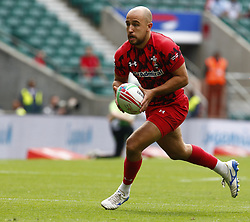May 26, 2019 - Twickenham, England, United Kingdom - Luke Treharne of Wales.during The HSBC World Rugby Sevens Series 2019 London 7s Challenge Trophy Quarter Final Match 27 between Wales and Japen at Twickenham on 26 May 2019. (Credit Image: © Action Foto Sport/NurPhoto via ZUMA Press)