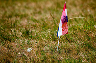 20-07-2019 Pictures of the final day of the Zwitserleven Dutch Junior Open at the Toxandria Golf Club in The Netherlands.<br /> Flag indicating position of the ball in the rough