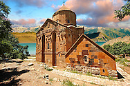 10th century Armenian Orthodox Cathedral of the Holy Cross on Akdamar Island, Lake Van Turkey 60 .<br /> <br /> If you prefer to buy from our ALAMY PHOTO LIBRARY  Collection visit : https://www.alamy.com/portfolio/paul-williams-funkystock/lakevanturkey.html<br /> <br /> Visit our TURKEY PHOTO COLLECTIONS for more photos to download or buy as wall art prints https://funkystock.photoshelter.com/gallery-collection/3f-Pictures-of-Turkey-Turkey-Photos-Images-Fotos/C0000U.hJWkZxAbg