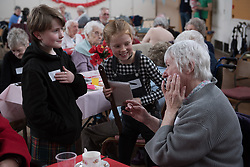 Although Bellfield Church and halls in Portobello - the  building at the heart of the first successful urban Community Right To Buy in Scotland - isn't going to officially open until later in the year, it was the venue for a pilot community event this afternoon. A combination of Action Porty, Tribe Porty Youth Theatre and Portobello Heritage Trust hosted an afternoon event at which older residents of Portoebllo were encouraged to come along, enjoy some music and afternoon tea and share their memories of the Edinburgh suburb with the newest genration of Portobello residents. At the same time the team bringing the building back into community use were able to gauge their progress and see what things still need to be done ready for the big opening in June 2018.<br /> © Jon Davey/ EEm