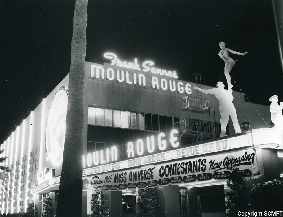 1955 Moulin Rouge Nightclub on Sunset Blvd.