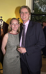 MR RUPERT HESELTINE, son of politician Michael Heseltine and his fiance MISS SARAH FITCH, at a party in London on 8th May 2000.ODN 36