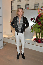 DOUGIE POYNTER at the launch of the new Rimowa store at 153a New Bond Street, London on 29th June 2016.