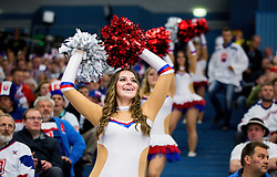 Cheerleaders dance during Ice Hockey match between Slovakia and Norway at Day 6 in Group B of 2015 IIHF World Championship, on May 6, 2015 in CEZ Arena, Ostrava, Czech Republic. Photo by Vid Ponikvar / Sportida