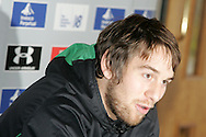 The Wales rugby team press conference and team training on 18/11/2008 ahead of their autumn international against New Zealand.  Wales capt Ryan Jones . pic by Andrew Orchard ©  Andrew Orchard sports photography