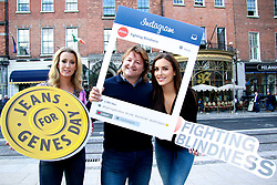 18th September 2017<br /> <br /> (L-R) Chanelle McCoy, Shane Byrne and Holly Carpenter  were all on hand to help Fighting Blindness Ireland launch their annual fundraising campaign, Jeans for Genes Day September 22nd.<br /> Jeans for Genes is a campaign were by Fighting Blindness ask the people of Ireland to wear jeans for a day, in all walks of life, and try raise funds to help cure genetic sight loss.<br /> The launch took place in 37 Dawson Street in Dublin. 37 and its seventeen sister venues will all be taking part in the campaign. The staff in all 18 venues will be wearing Blue Jeans for the day and selling Blue Cocktails with all proceeds going to the charity.<br />  <br /> PIC: Lensmen