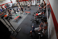 11/7/07 Smith Center, KS.Weight room at Smith Center High School...(Chris Machian/Prairie Pixel Group)