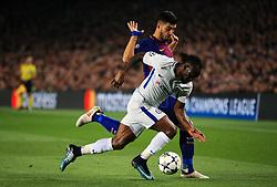 Victor Moses of Chelsea battles with Luis Suarez of Barcelona - Mandatory by-line: Matt McNulty/JMP - 14/03/2018 - FOOTBALL - Camp Nou - Barcelona, Catalonia - Barcelona v Chelsea - UEFA Champions League - Round of 16 Second Leg