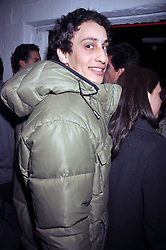 ALEX DELLAL at the Prada Congo Art Party hosted by Miuccia Prada and Larry Gagosian at The Double Club, 7 Torrens Street, London EC1 on 10th February 2009.