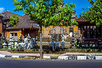 Bali, Gianyar, Batubulan. Batubulan is a Balinese center for stonecarving.