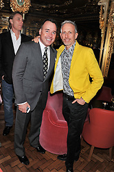 Left to right, DAVID FURNISH and PATRICK COX at the 50th birthday party for Patrick Cox held at the Café Royal Hotel, 68 Regent Street, London on 15th March 2013.