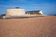 Martello tower on the beach, Seaford, East Sussex, England