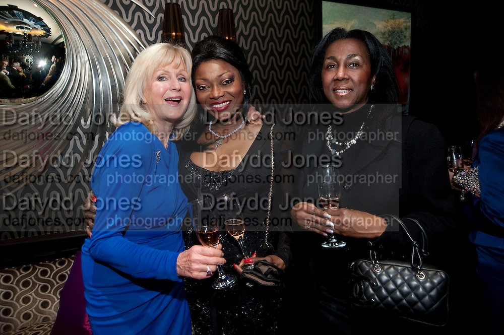 LIZ BREWER; PATTI BOULAYE; THERESA ROBERTS, Liz Brewer GIVES A PARTY TO WELCOME 2010, Champagne <br /> Flemings Mayfair, 13 Half Moon Street, London. 5 January 2010