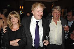 Left to right, RACHEL JOHNSON, BORIS JOHNSON and their father STANLEY JOHNSON at a party to celebrate the 180th Anniversary of The Spectator magazine, held at the Hyatt Regency London - The Churchill, 30 Portman Square, London on 7th May 2008.<br /><br />NON EXCLUSIVE - WORLD RIGHTS