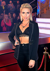 Gabby Allen enters the house during the Celebrity Big Brother Launch Night at Elstree Studios, Hertfordshire.