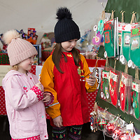 Amy and Sophie Nagle from Ennis look at the merchandice at the outdoor market at Treacys West County Winter Wonderland on Saturday afternoon