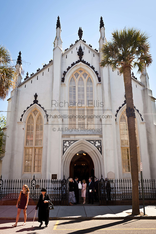 Historic French Huguenot Church in Charleston, SC.