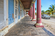 Church square in Gibara, Holguin, Cuba.