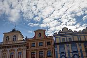 Haus Fassaden gegenüber vom  Altstädter Rathaus in Prag.