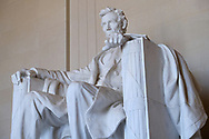 WASHINGTON - JUNE 30, 2019: Visitors gather at the Lincoln Memorial on June 30, 2019, in Washington, D.C.