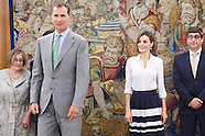 090215 Spanish Royals attend audiences at Zarzuela Palace