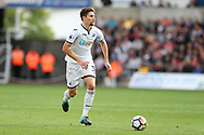Federico Fernandez, the Swansea city captain in action.Premier league match, Swansea city v Newcastle Utd at the Liberty Stadium in Swansea, South Wales on Sunday 10th September 2017.<br /> pic by  Andrew Orchard, Andrew Orchard sports photography.