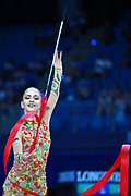 Neviana Vladinova from Bulgaria. She is born in Pleven in 1994. Her dream is to win a medal at the 2020 Olympic Games in Tokyo. Neviana in the 35th World Championships came in at seventh place in the final standings with 67.550 points.