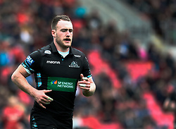Glasgow Warriors' Stuart Hogg<br /> <br /> Photographer Simon King/Replay Images<br /> <br /> Guinness PRO14 Round 19 - Scarlets v Glasgow Warriors - Saturday 7th April 2018 - Parc Y Scarlets - Llanelli<br /> <br /> World Copyright © Replay Images . All rights reserved. info@replayimages.co.uk - http://replayimages.co.uk