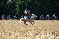 Illustration, Scenery, Horse, french flag, during the 105th Tour de France 2018, Stage 8, Dreux - Amiens Metropole (181km) on July 14th, 2018 - Photo Luca Bettini / BettiniPhoto / ProSportsImages / DPPI