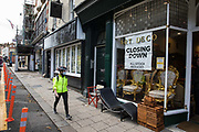 A closed restaurant and an antiques shop holding a closing down sale are pictured on 3rd November 2020 in Windsor, United Kingdom. Struggling high-street businesses are now having to prepare for England's second national lockdown to combat the spread of the coronavirus, which is set to begin on 5th November and to last four weeks.