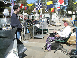 Pete Greeley and Edward B. Grothus conversing at The Black Hole Surplus Store. Los Alamos New Mexico. 22 March 2008