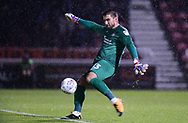 Matt Ingram, the goalkeeper of Northampton Town. EFL Skybet Football League one match, Northampton Town v Portsmouth at the Sixfields Stadium in Northampton on Tuesday 12th September 2017. <br /> pic by Bradley Collyer, Andrew Orchard sports photography.