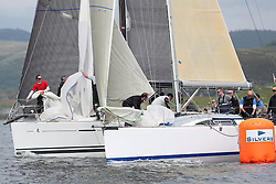 The Silvers Marine Scottish Series 2014, organised by the  Clyde Cruising Club,  celebrates it's 40th anniversary.<br /> GBR5991T, Prime Suspect, Charlie Frize, CCC, Mills 36,GBR8140C ,Zephyr, S Cowie/ I Marshall, CCC/FYC/RGYC ,First 40<br /> Final day racing on Loch Fyne from 23rd-26th May 2014<br /> <br /> Credit : Marc Turner / PFM