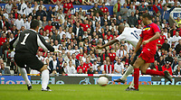 Photo: Aidan Ellis.<br /> England v Andorra. European Championships 2008 Qualifying. 02/09/2006.<br /> England's Jermain Defoe scores the fourth goal