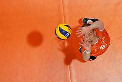 21-09-2019 NED: EC Volleyball 2019 Netherlands - Germany, Apeldoorn<br /> 1/8 final EC Volleyball / Gijs van Solkema #15 of Netherlands