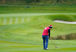 Auchterarder, Scotland, UK. 12 September 2019. Final practice day at 2019 Solheim Cup on Centenary Course at Gleneagles. Pictured; Marina Alex approach shot to the 2nd hole. Iain Masterton/Alamy Live News