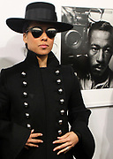 New York, NY-Jan. 11: Recording Artist Alicia Keys attends the Gordon Parks: I AM YOU Opening Reception presented by the Gordon Parks Foundation  held at the Jack Shanmain Gallery on January 11, 2018 in New York City.  (Photo by Terrence Jennings/terrencejennings.com)