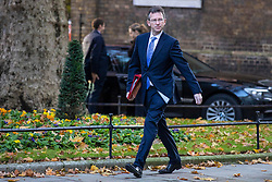 © Licensed to London News Pictures. 13/11/2018. London, UK. Secretary of State for Culture, Media and Sport Jeremy Wright QC arrives on Downing Street for the Cabinet meeting. Photo credit: Rob Pinney/LNP