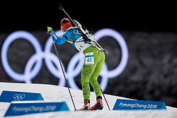 South Korea, PyeongChang - 2018 February 15: Klemen Bauer from Slovenia competes in Biathlon Men's 20km Individual Final during The 2018 PyeongChang Olympic Winter Games at Alpensia Biathlon Centre on February 15, 2018 in PyeongChang, South Korea.<br /> <br /> Mandatory credit:<br /> Photo by © Adam Nurkiewicz<br /> <br /> Adam Nurkiewicz declares that he has no rights to the image of people at the photographs of his authorship.<br /> <br /> Picture also available in RAW (NEF) or TIFF format on special request.<br /> <br /> Any editorial, commercial or promotional use requires written permission from the author of image.