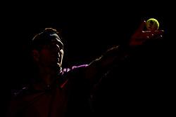 May 2, 2017 - Estoril, Portugal - Juan Martin Del Potro of Argentine serves a ball to Yuichi Sugita of Japan during the Millennium Estoril Open 1st round tennis tournament in Estoril, outskirts  of Lisbon, Portugal on May 2, 2017. Juan Martin Del Potro of Argentine won 6-1, 6-3. (Credit Image: © Pedro Fiuza/NurPhoto via ZUMA Press)