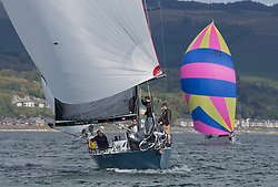 Pelle P Kip Regatta 2019 Day 1<br /> <br /> Light and bright conditions for the opening racing on the Clyde keelboat season<br /> <br /> GBR7737R, Aurora, Rod Stuart / A Ram, CCC, Corby 37