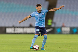 December 15, 2018 - Sydney, NSW, U.S. - SYDNEY, NSW - DECEMBER 15: Sydney FC midfielder Milos Ninkovic (10) passes the ball at the Hyundai A-League Round 8 soccer match between Western Sydney Wanderers FC and Sydney FC at ANZ Stadium in NSW, Australia on December 15, 2018. (Photo by Speed Media/Icon Sportswire) (Credit Image: © Speed Media/Icon SMI via ZUMA Press)
