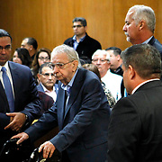 """John Feit exits the courtroom as he is taken into custody at the end of his trial. O. Rene Flores refused to comment as to whether he plans to file an appeal in the case, though Michael Garza expects one. During one of his last statements Michael Garza told the jurors """"by your verdict and your assessment of punishment you remind him of what her name was; her name was Irene Garza."""" Nathan Lambrecht/The Monitor"""