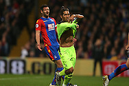 Roberto Firmino of Liverpool celebrates after  scoring his sides 4th goal to make it 2-4. Premier League match, Crystal Palace v Liverpool at Selhurst Park in London on Saturday 29th October 2016.<br /> pic by John Patrick Fletcher, Andrew Orchard sports photography.